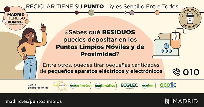 La entidad retira estos residuos en más de 560 puntos de recogida de la Comunidad de Madrid, el 43% de ellos en la capital