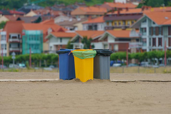 El volumen de residuos reciclados se estima que disminuyó en 2020 hasta los 18,5 millones de toneladas