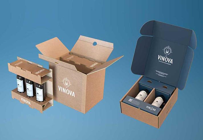 Smurfit Kappa: gama de embalajes eCommerce para el envío de botellas de vidrio