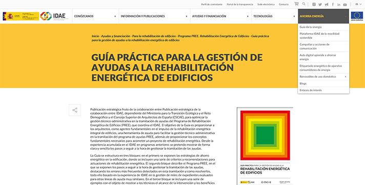 IDAE y el CSCAE presentan una guía para la gestión de ayudas a la rehabilitación energética de edificios