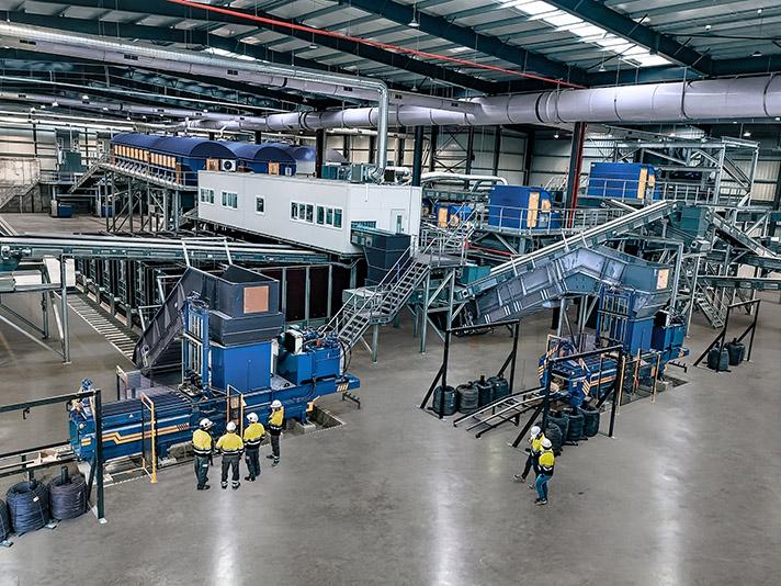 Stadler instala la nueva planta de tratamiento mecánico de Ibiza del área ambiental de Ca na Putxa