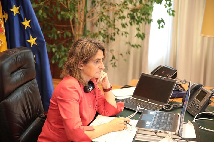 La vicepresidenta y ministra para la Transición Ecológica y el Reto Demográfico, Teresa Ribera
