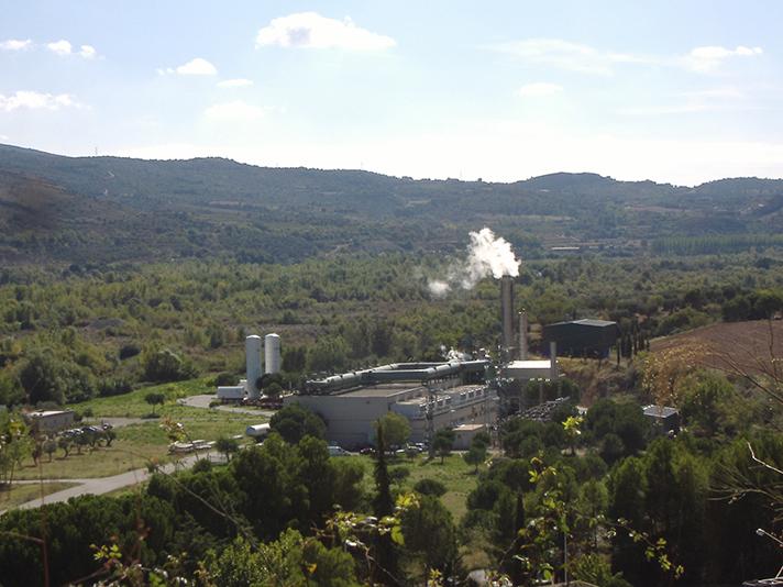 Planta de cogeneración de Neoelectra en El Grado (Huesca)
