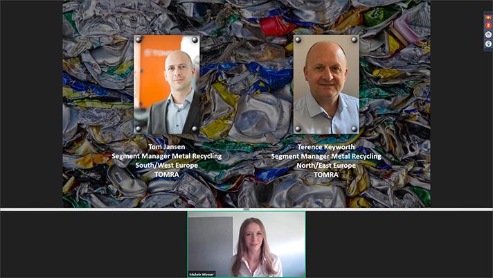TOMRA Recycling analiza el futuro de la industria del aluminio a nivel global en su último webinar