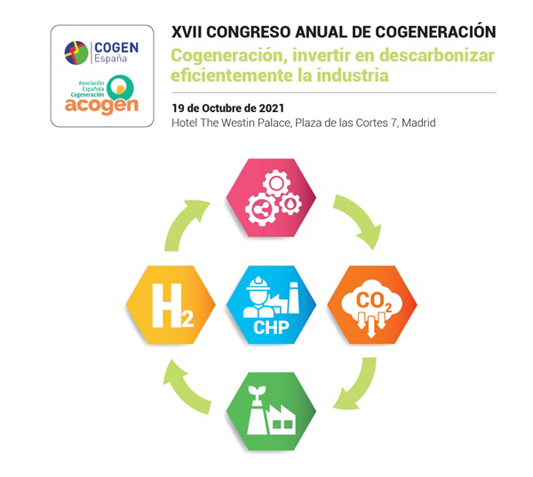 ACOGEN y COGEN España organizan el XVII Congreso Anual de Cogeneración