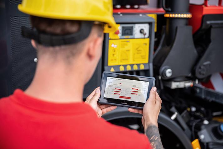 Operator Monitor es una aplicación móvil para operadores de grúas