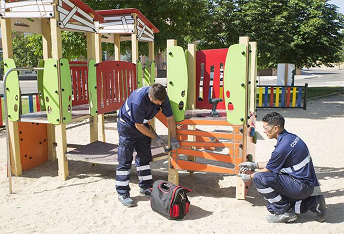 La UTE Contenur-Valoriza se adjudica el mayor contrato de mantenimiento de áreas infantiles, deportivas y de mayores a nivel europeo