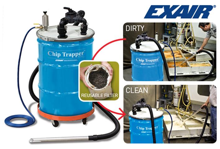 Chip Trapper de Exair para filtrar virutas y otros residuos sólidos