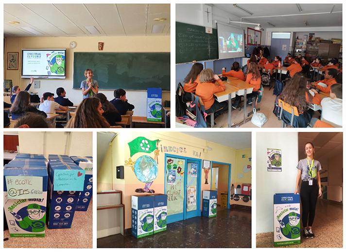 Se han desarrollado 1.193 actividades educativas sobre reciclaje y economía circular en 247 centros de Educación Primaria y Secundaria