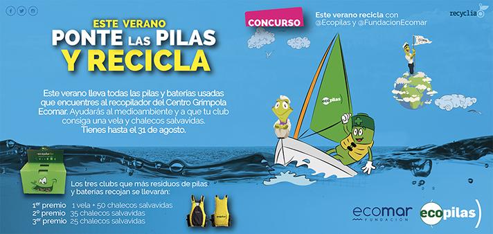 Las fundaciones Ecopilas y Ecomar prevén superar los 1.500 kilos de pilas recicladas esta temporada