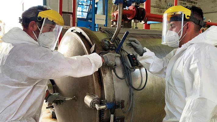 Sólo en los meses de enero y febrero de 2021 la empresa andaluza procesó más de 900.000 kg. de desechos de este tipo